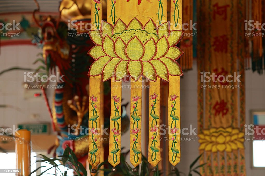Buddhism Banners on Chinese temple 9 royalty-free stock photo