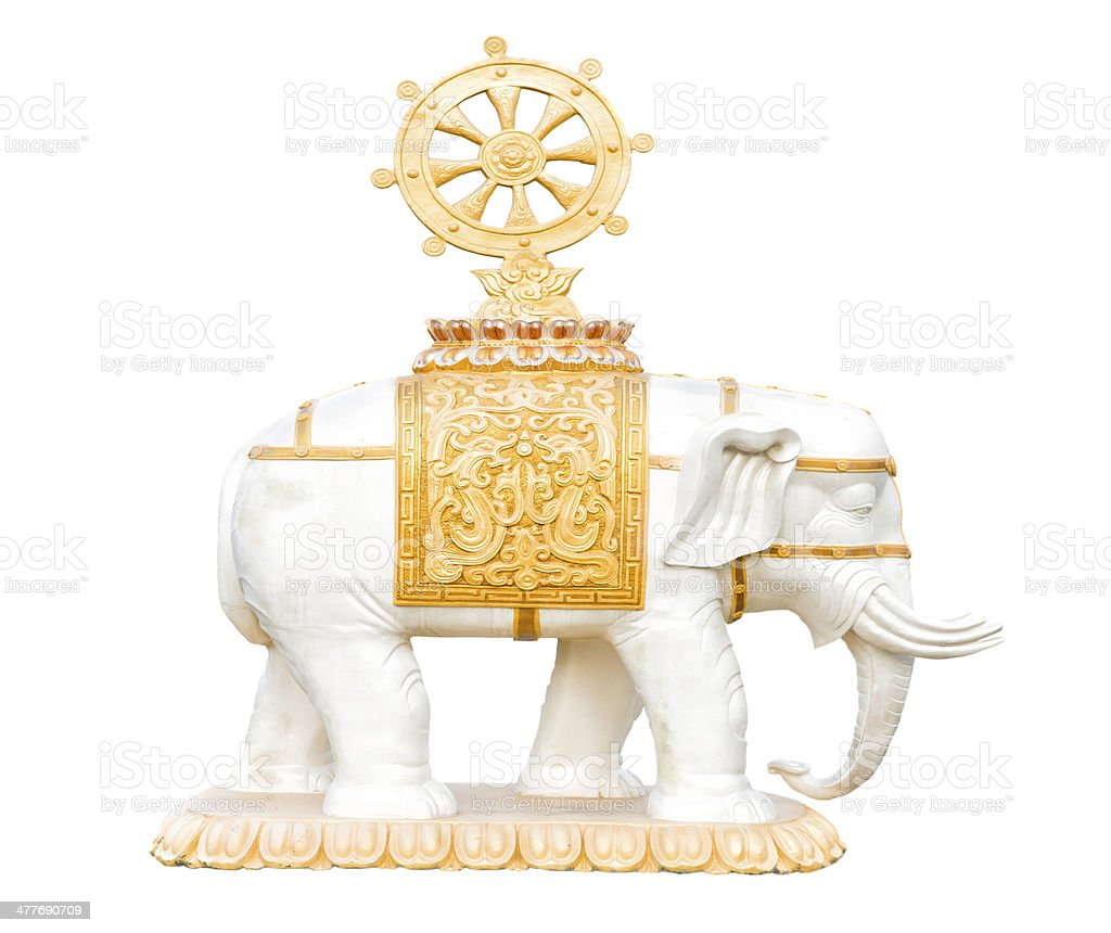 Buddhism elephant figure stock photo