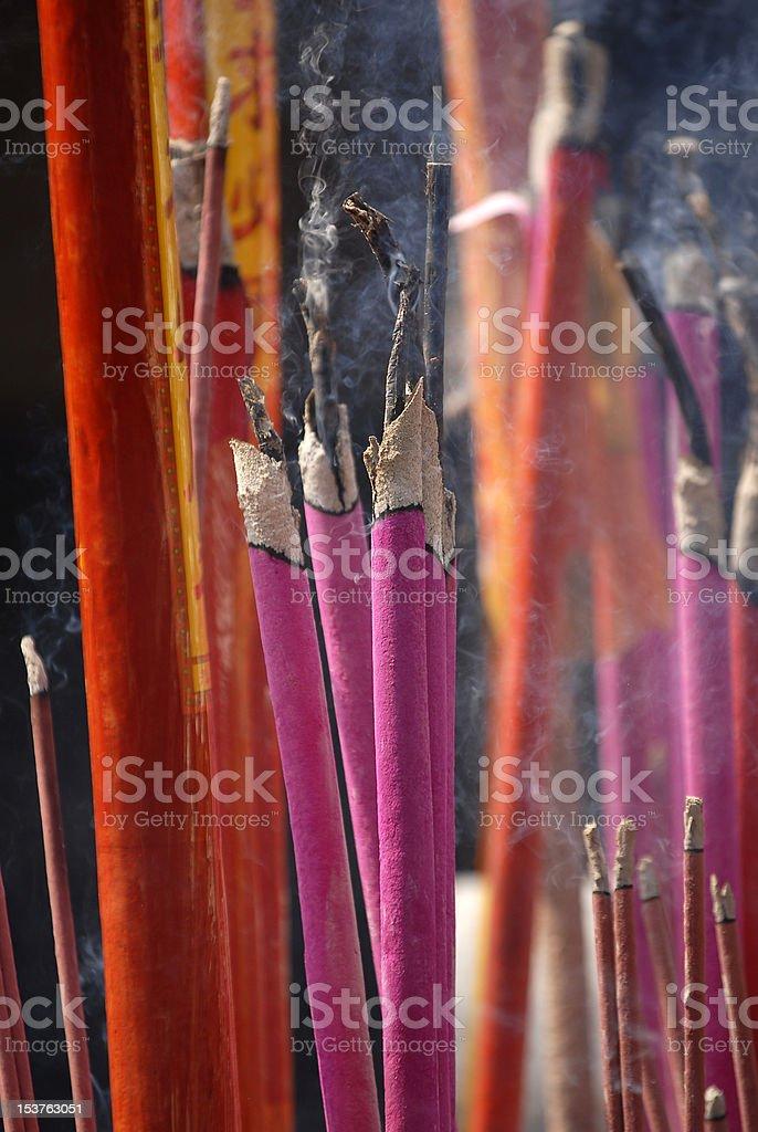 Buddhism incense sticks royalty-free stock photo