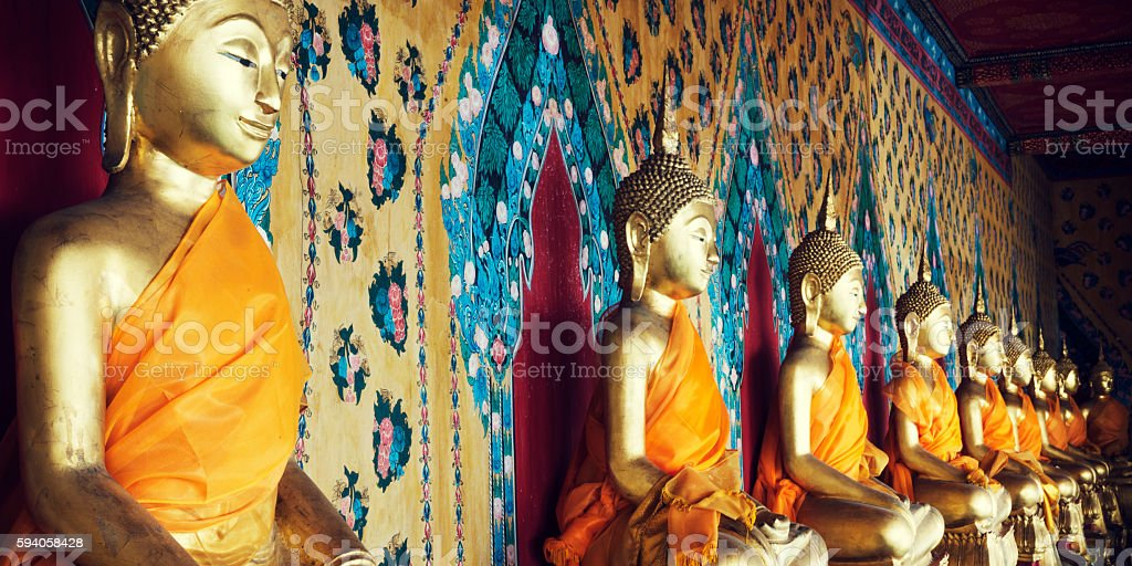 Buddhism Religion Spirituality Idols Concept stock photo