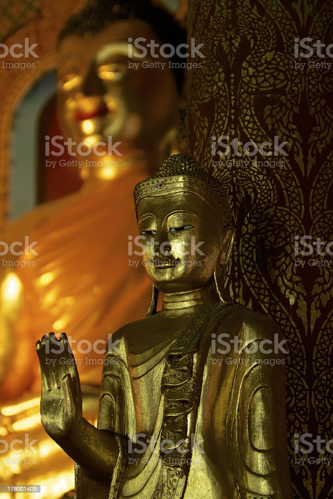 Buddhism statue in the Temple stock photo