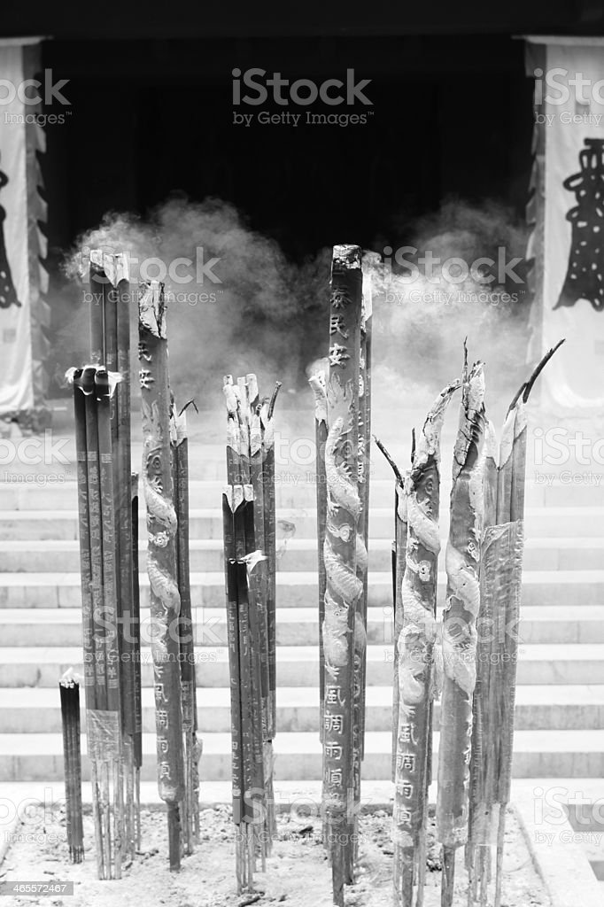Buddhism Temple Incense stock photo