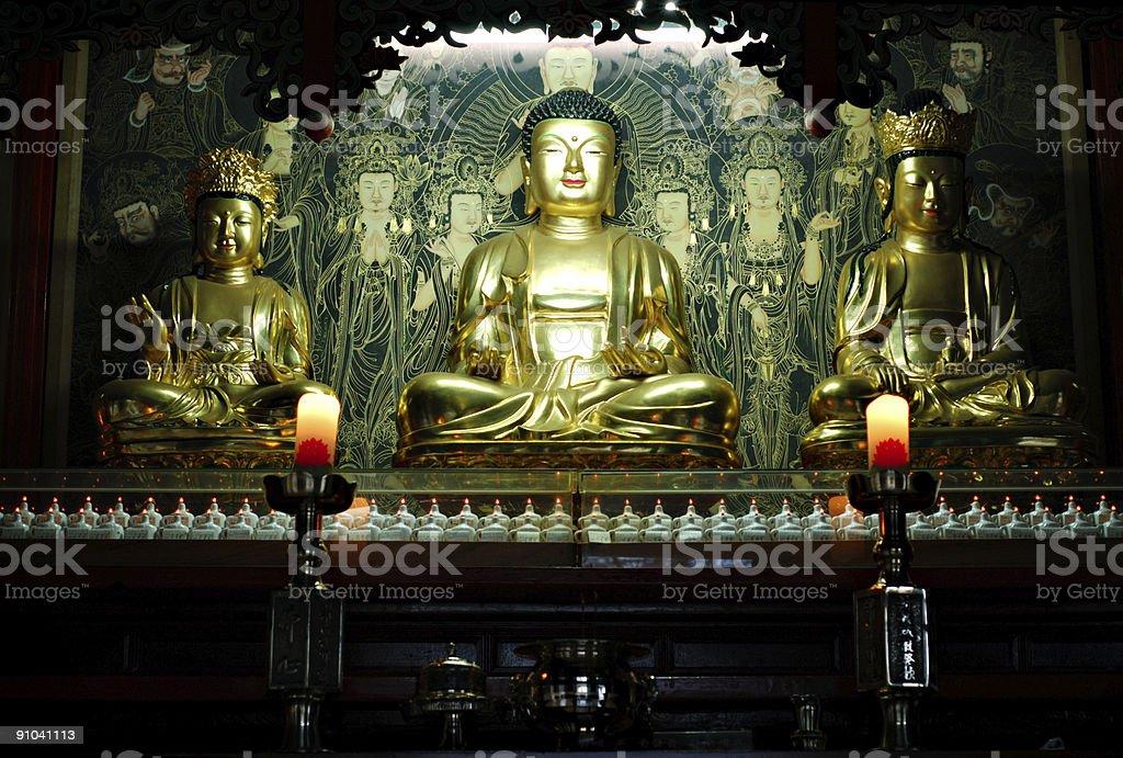buddhist altar royalty-free stock photo
