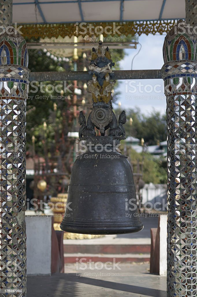 Buddhist bell. Myanmar. Twente. royalty-free stock photo