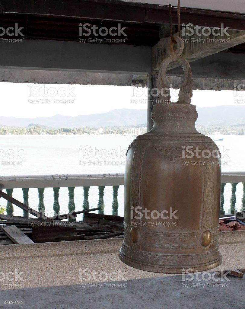 Buddhist bell stock photo
