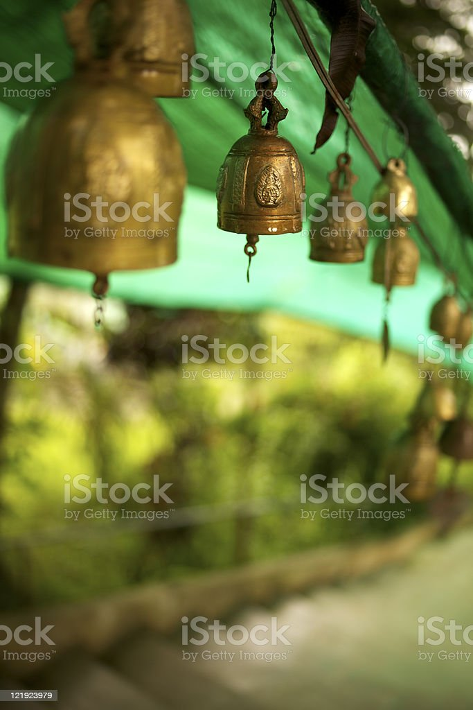 Buddhist bells stock photo
