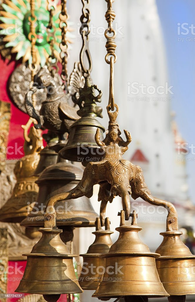 Buddhist Bells royalty-free stock photo