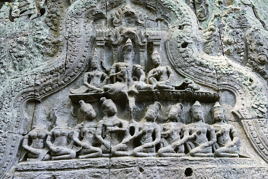Buddhist Carvings royalty-free stock photo