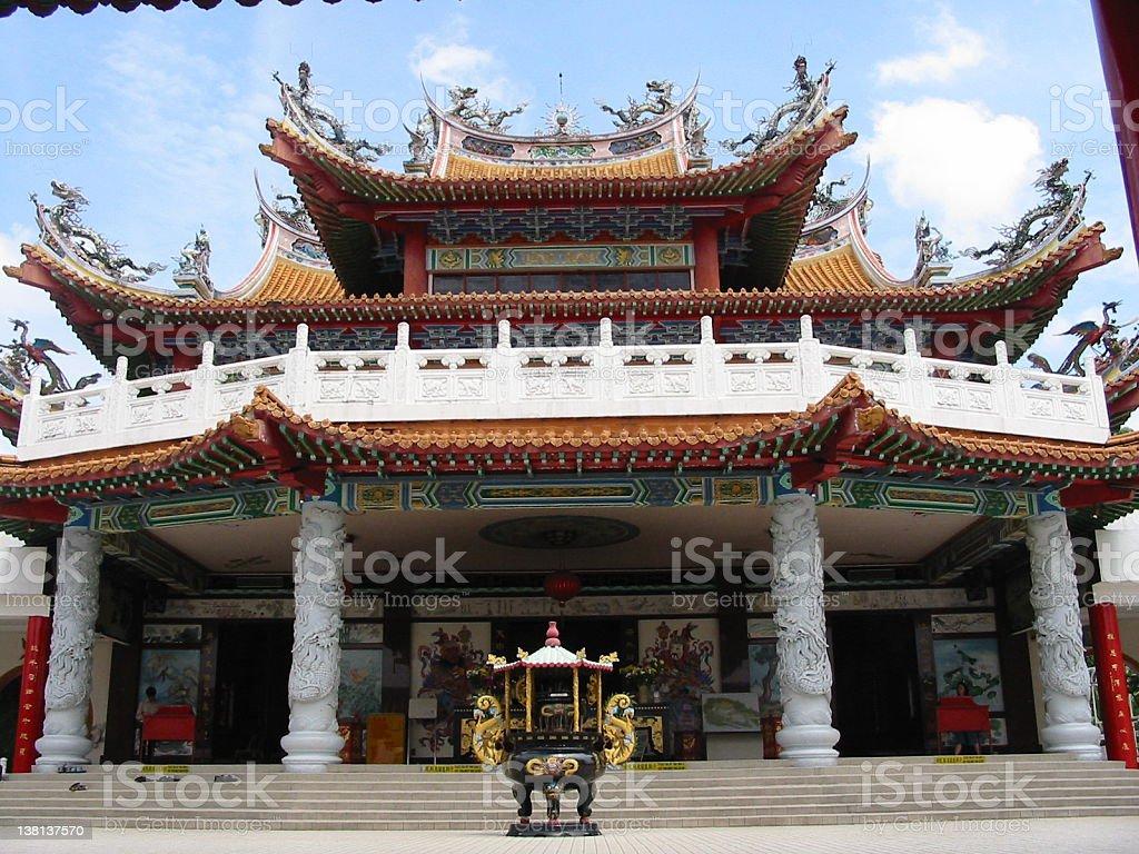 buddhist Chinese temple Kuala Lumpur stock photo