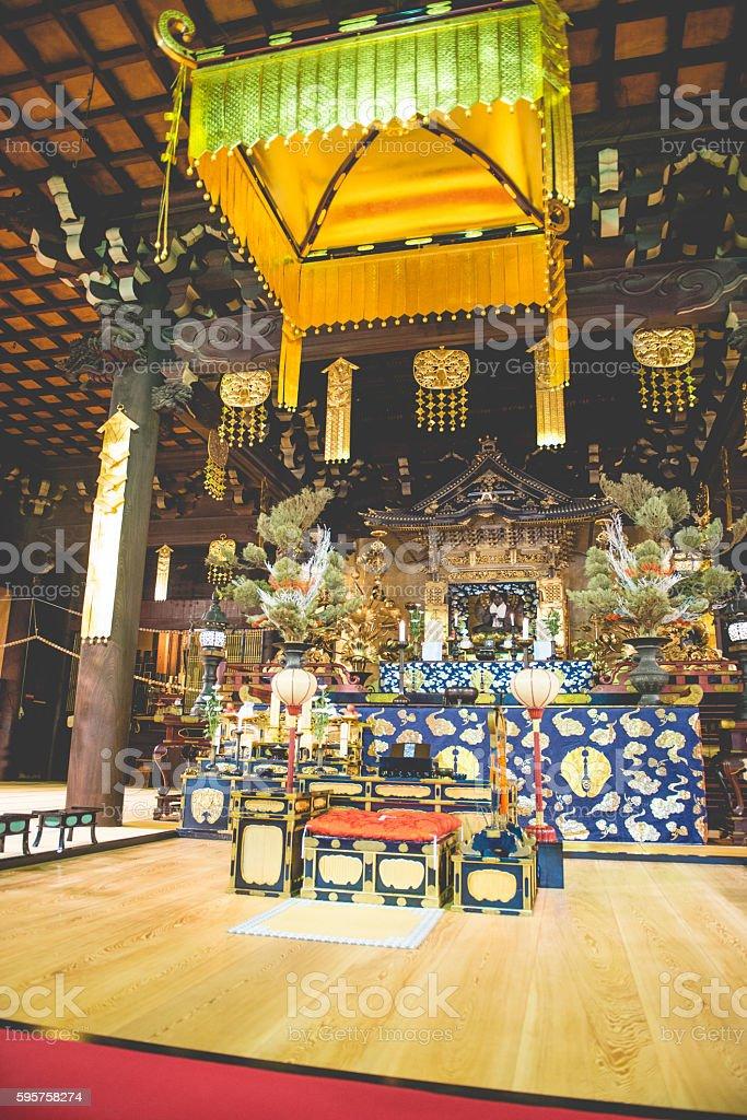Buddhist Chion-ji Temple in Kyoto, Japan stock photo