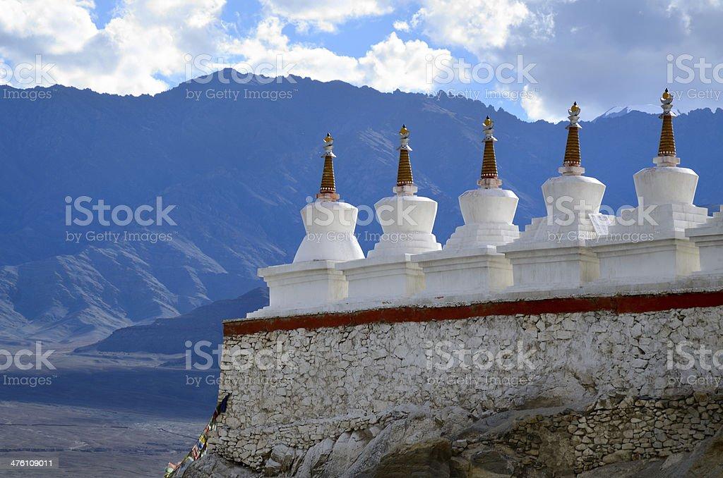 Buddhist chortens stock photo