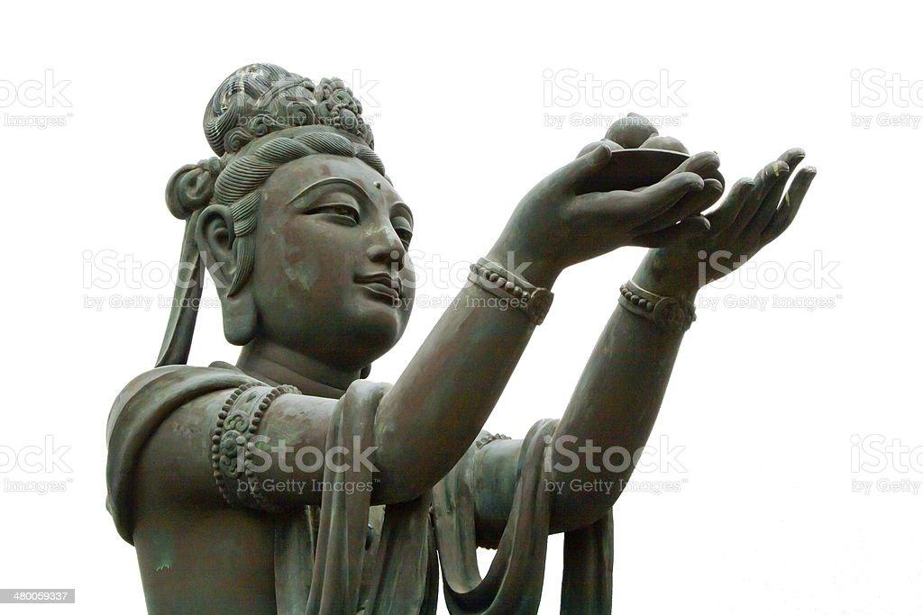 Buddhist Deva statue stock photo