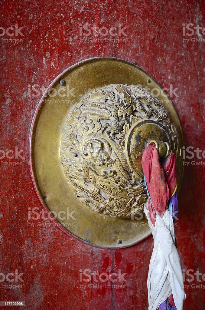 Buddhist door royalty-free stock photo