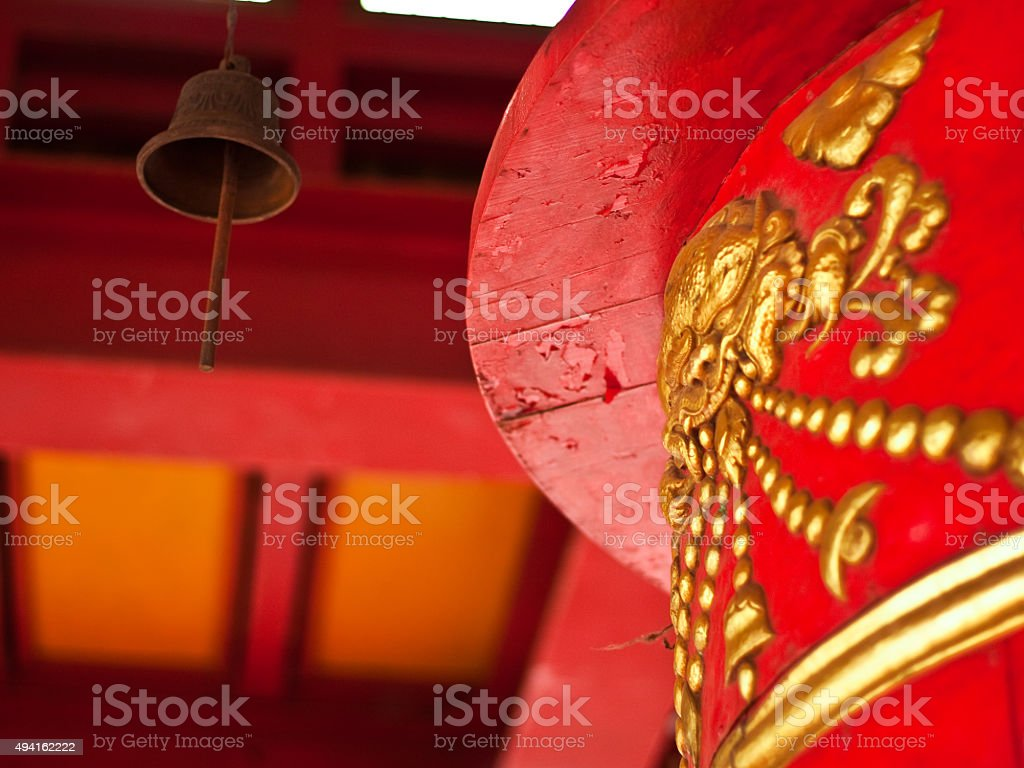 Buddhist drum desires stock photo
