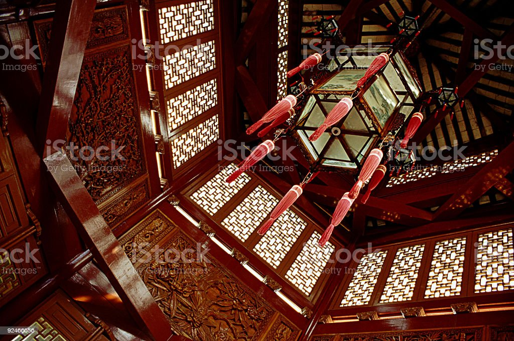 Buddhist gazebo stock photo