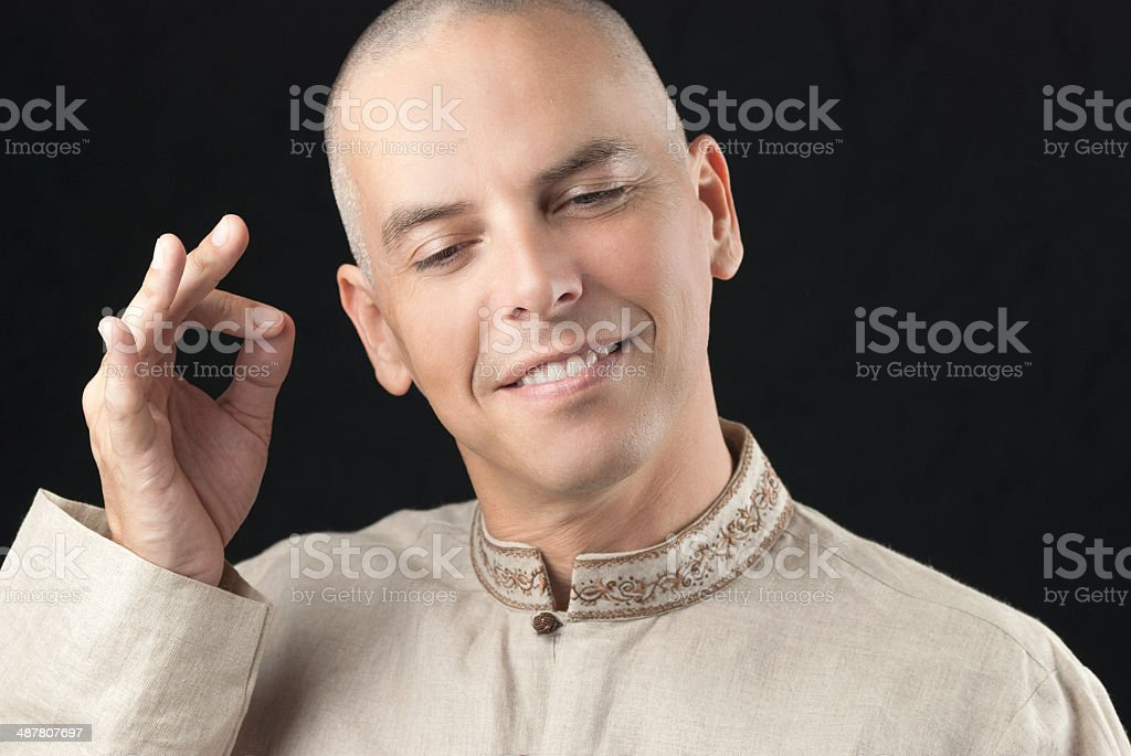 Buddhist Gestures Vitarka stock photo