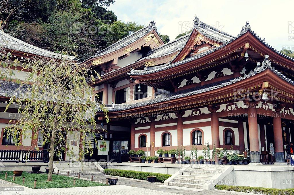 Buddhist Hasadera  Temple in Kamakura,Japan stock photo