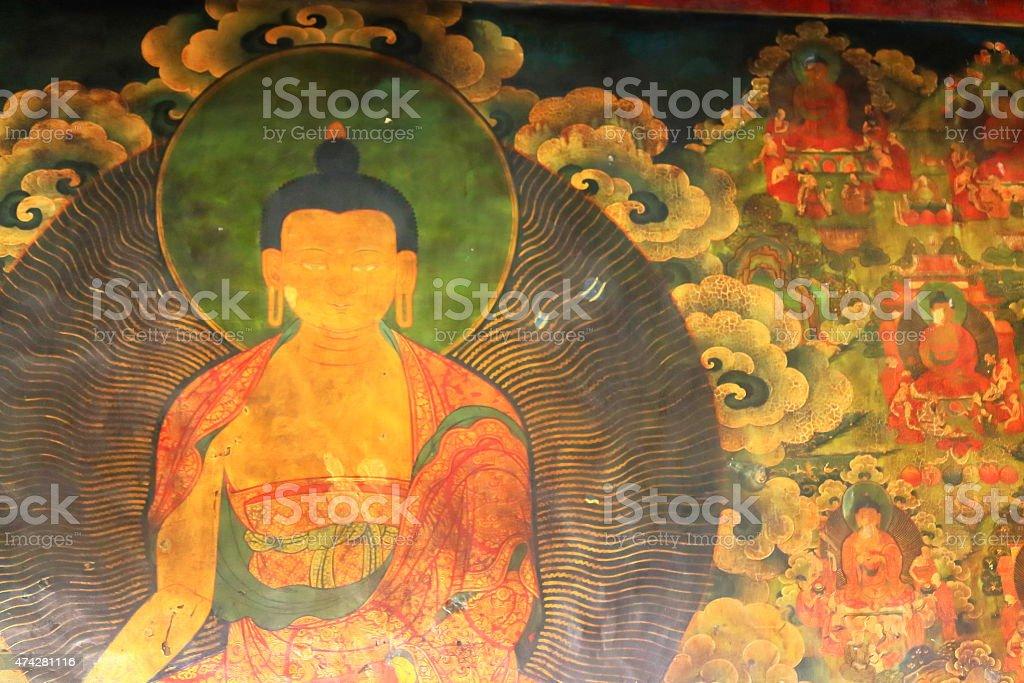 Buddhist image. Jokhang temple-Lhasa-Tibet. 1421 stock photo