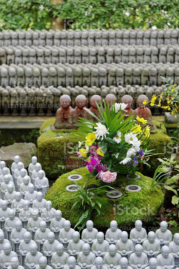 Buddhist Jizo statues stock photo