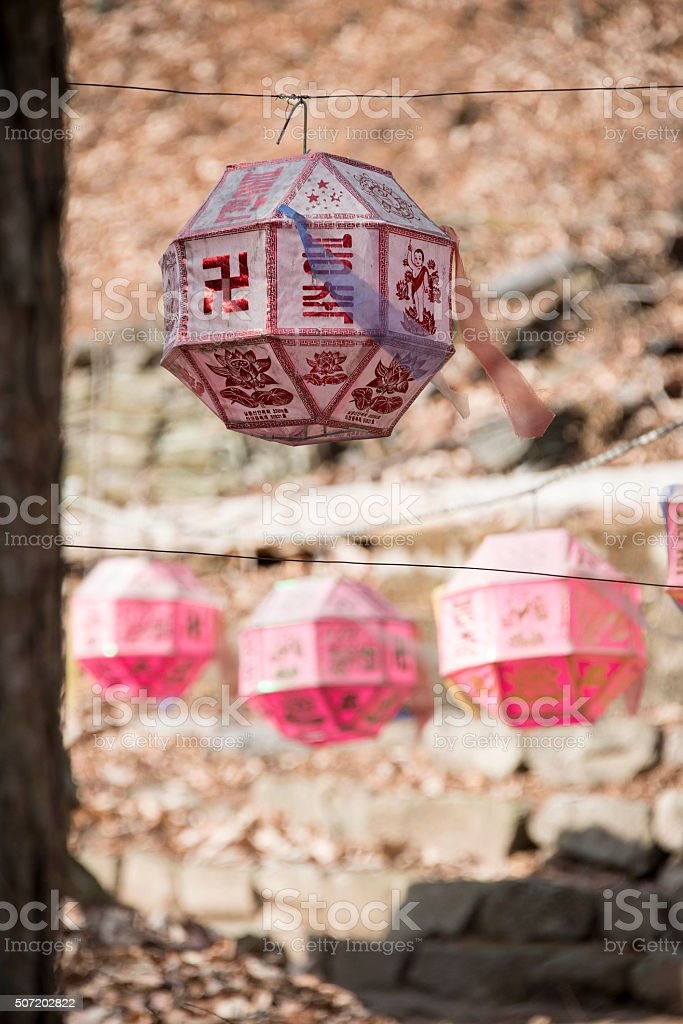 Buddhist Lantern stock photo
