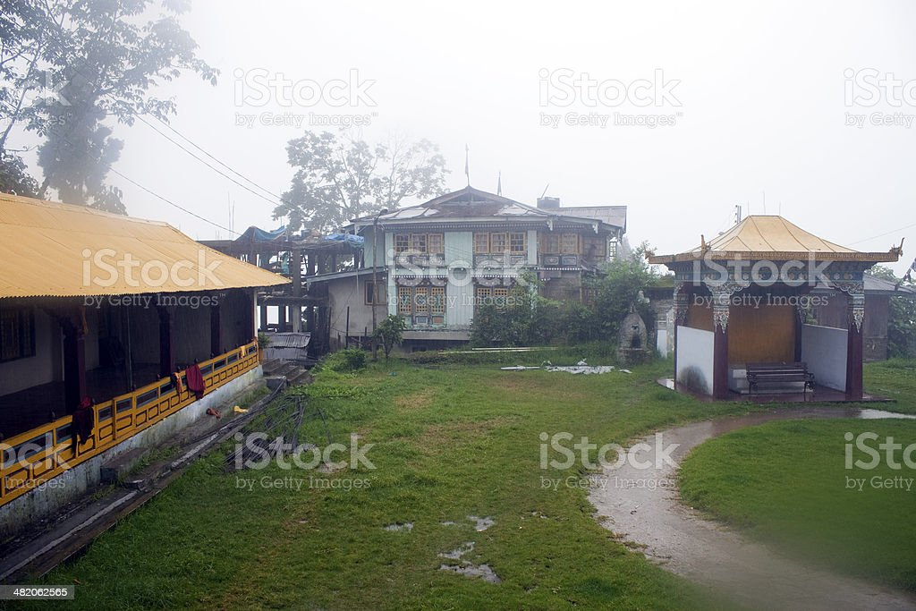 Buddhist monastery in Pelling stock photo