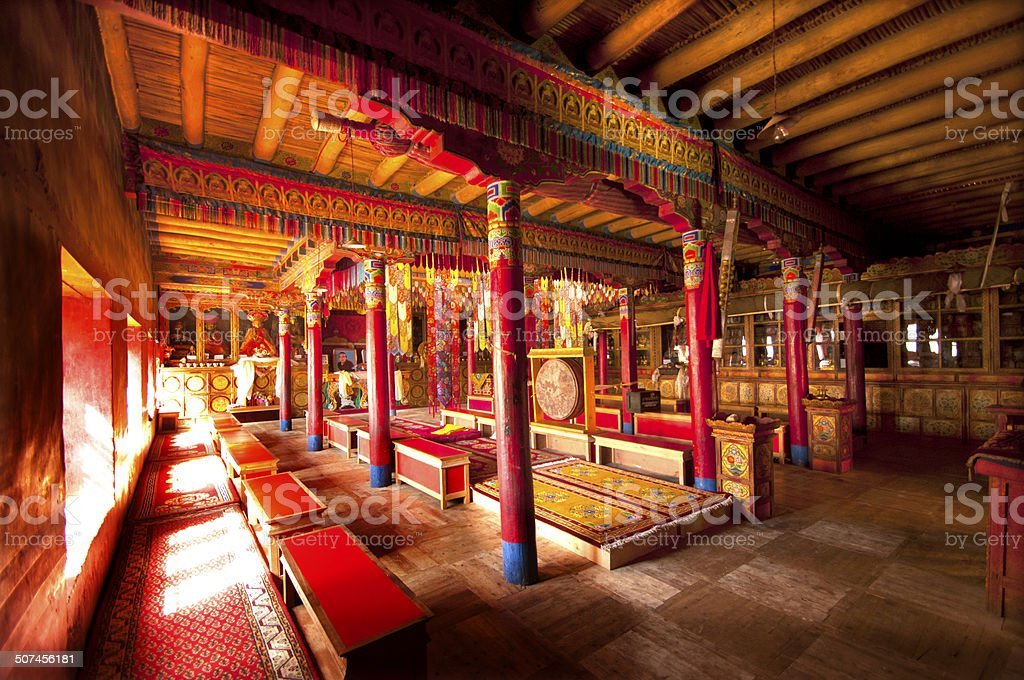 Buddhist Monastery , Lamayuru Gompa ,Ladakh,India stock photo