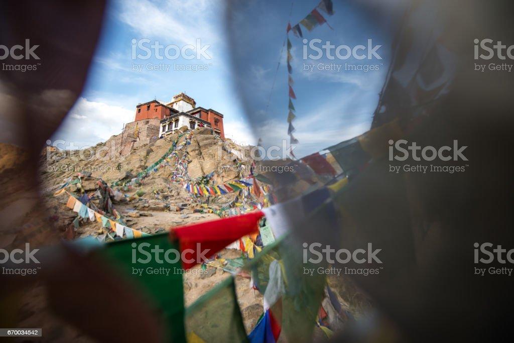 Buddhist monastery, Namgyal Tsemo Gompa, Leh Ladakh , India stock photo