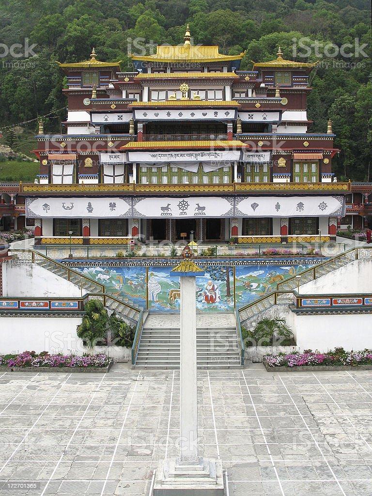 Buddhist Monastery stock photo