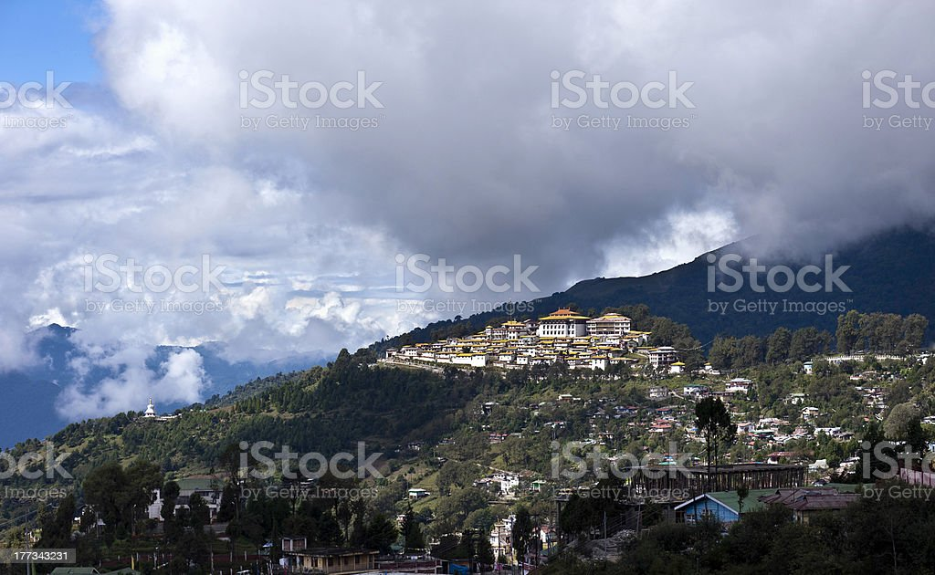 Buddhist monastery, Tawang, Arunachal Pradesh, India stock photo