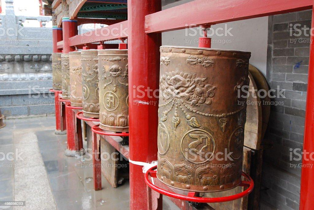 Buddhist Monastry in Xining, China stock photo