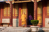 Buddhist monk at the Da Ci'en monastery - Xi'an China