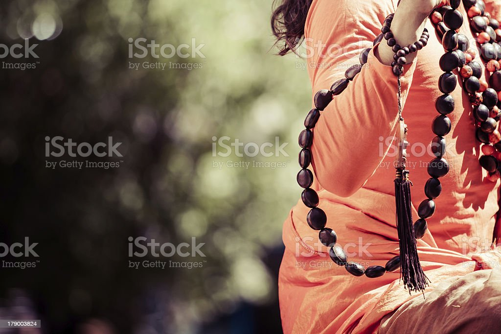 Buddhist monk in praying. royalty-free stock photo