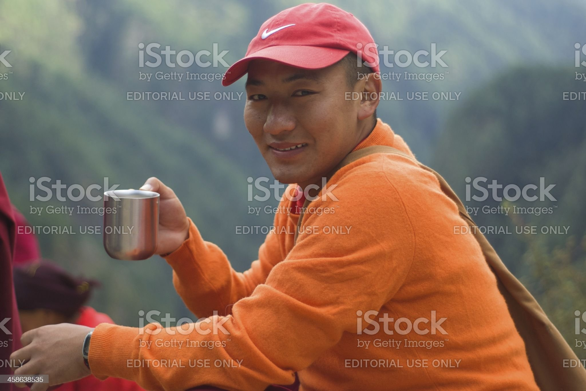 Buddhist Monk in the Himalayas royalty-free stock photo