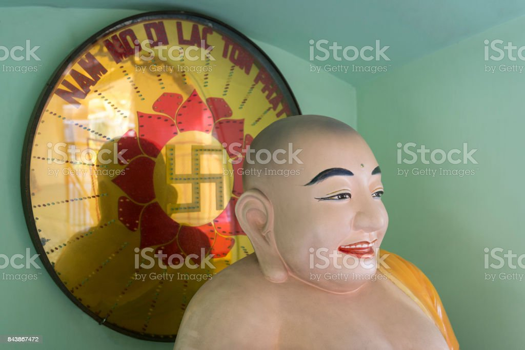 Buddhist monk in Vietnam stock photo