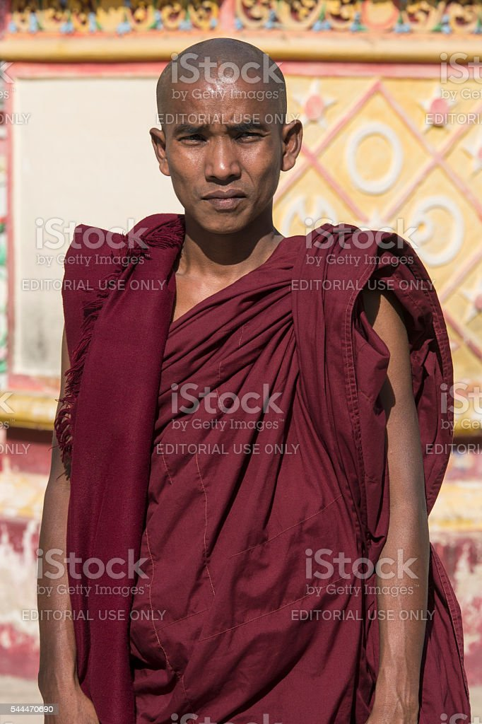 Buddhist Monk - Monwya - Myanmar stock photo