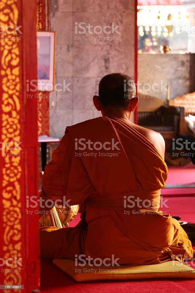 Buddista novizio foto stock royalty-free