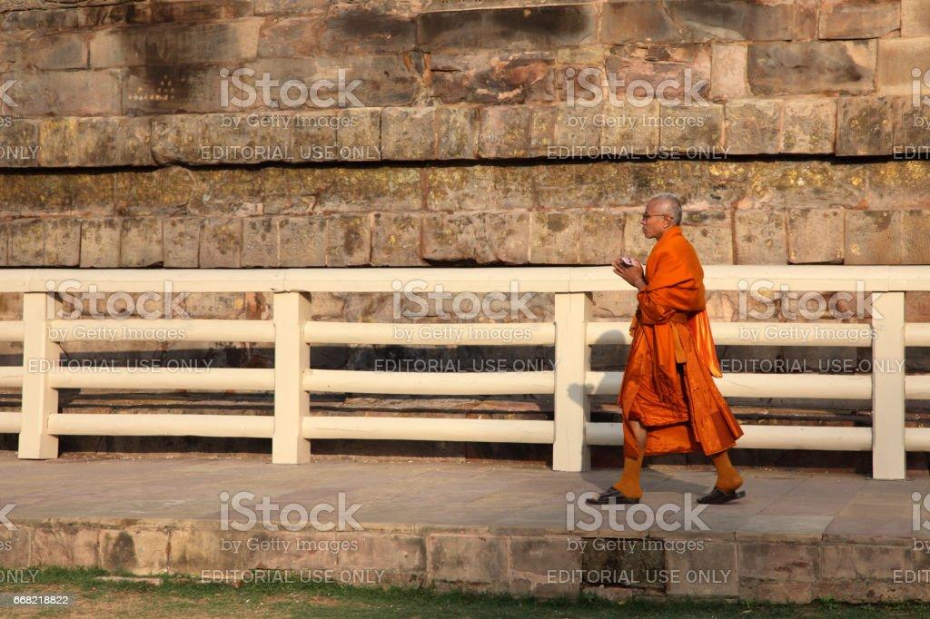 Buddhist monuments in Sarnath stock photo