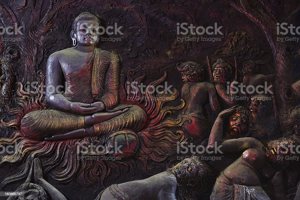 Buddhist mural royalty-free stock photo