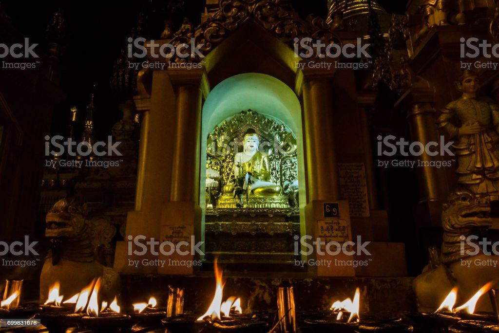 Buddhist night stock photo