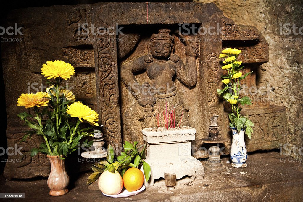 Buddhist offering stock photo