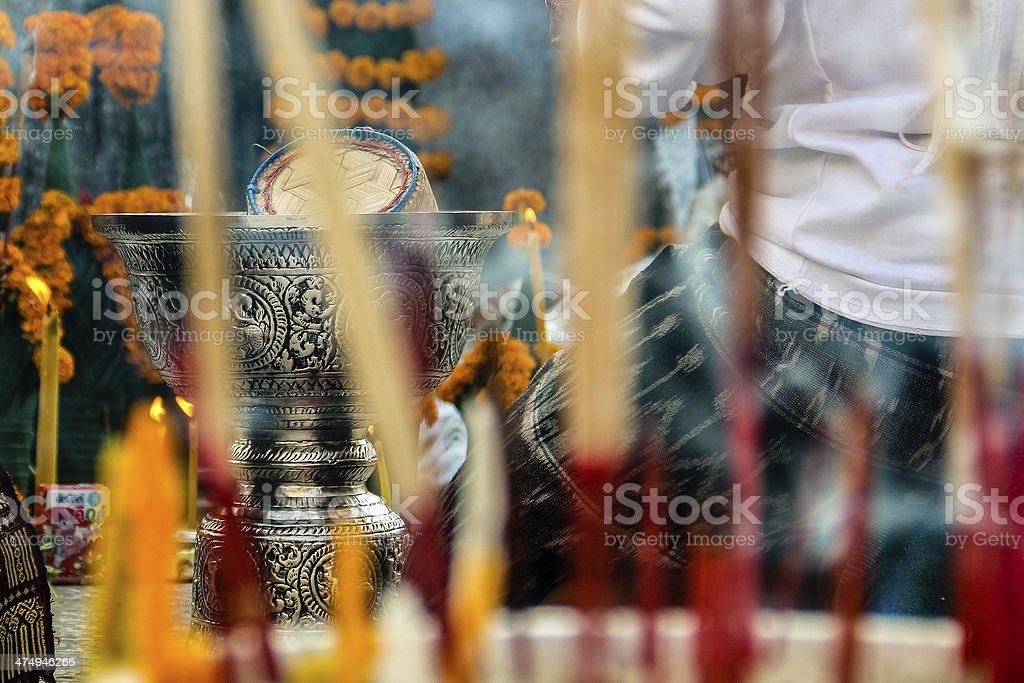 Buddhist Offering stock photo