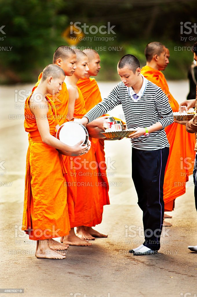 Buddhist Offerings royalty-free stock photo