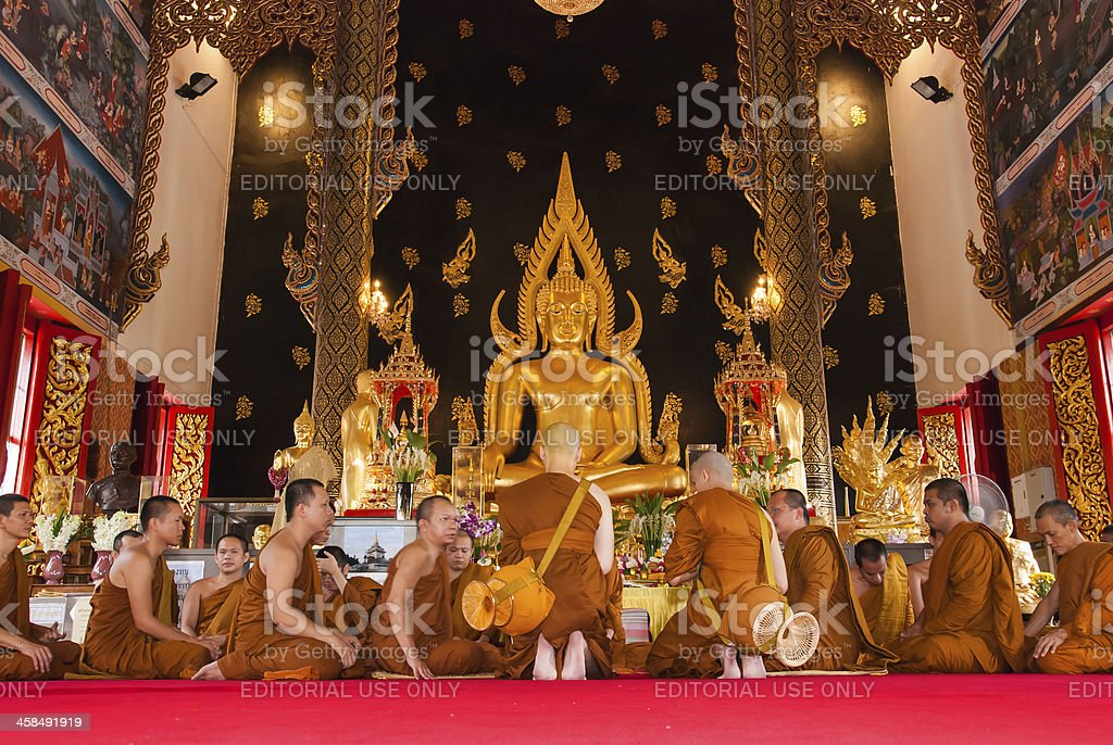 Buddhist ordination stock photo