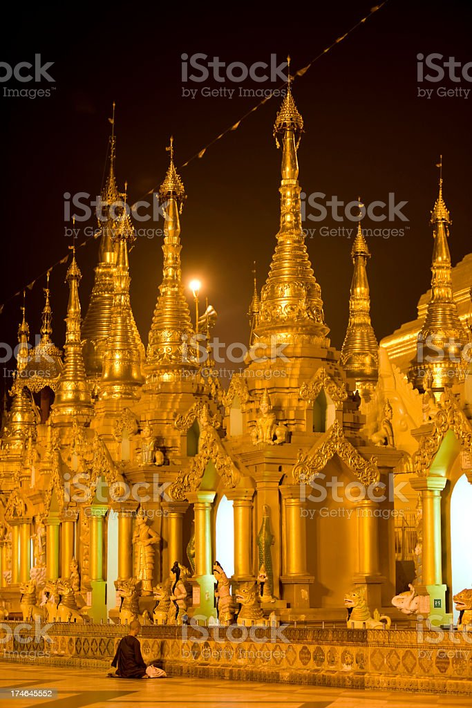 Buddhist paying respect. royalty-free stock photo