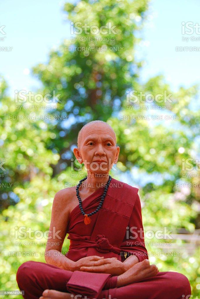 Buddhist philosopher made of Wax stock photo