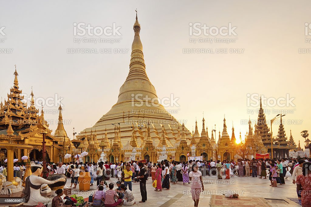 Buddhist Pilgrims royalty-free stock photo