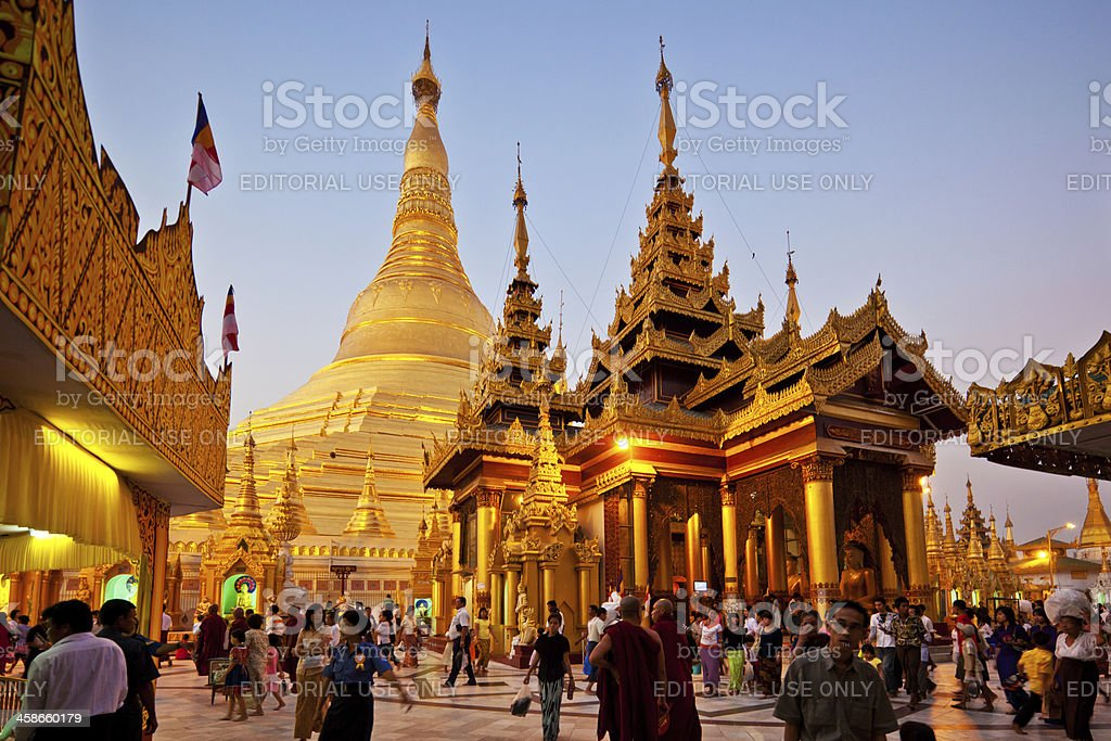 Buddhist Pilgrims stock photo