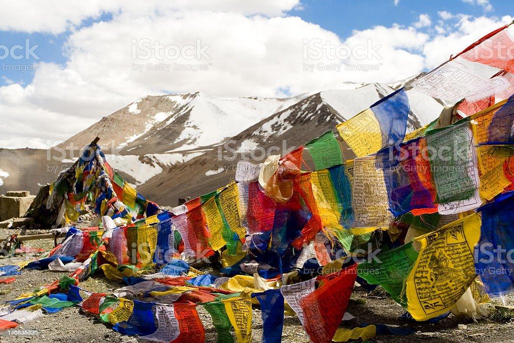 Buddhist Prayer Flags, Himalayas, India royalty-free stock photo