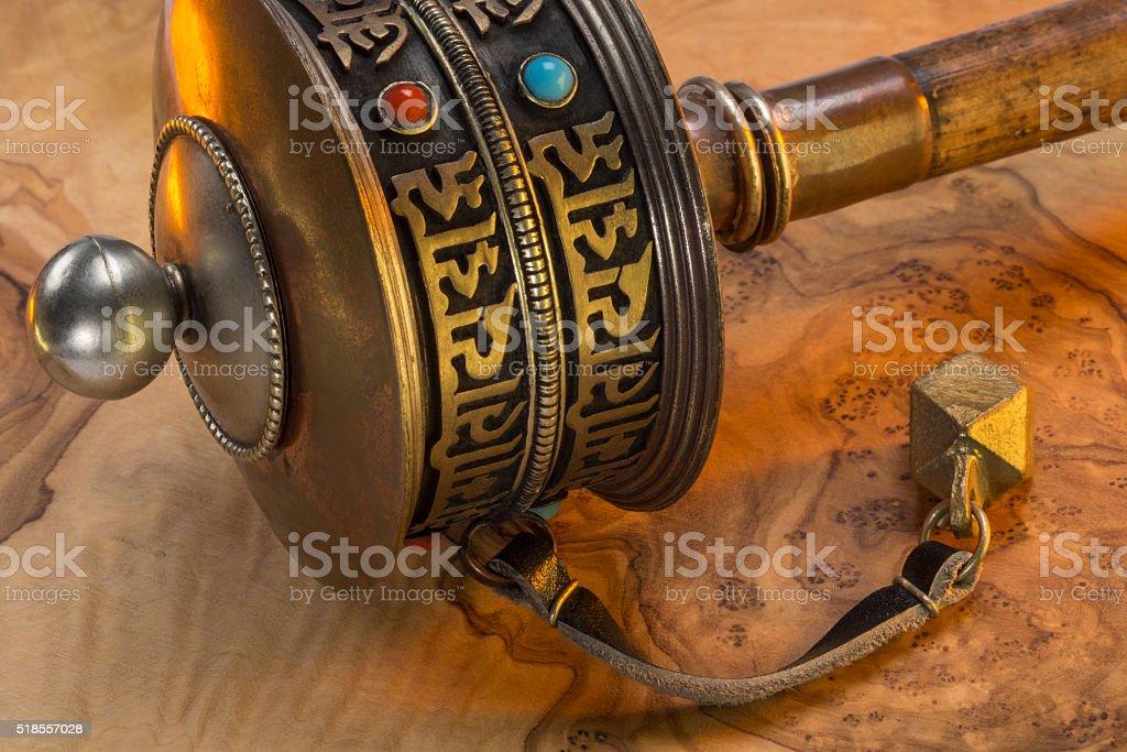 Buddhist Prayer Wheel - Nepal stock photo