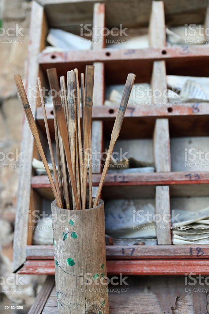 buddhist prayers-laos II stock photo